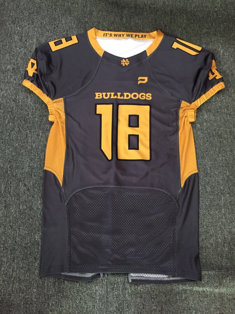 custom sublimation made american football jersey