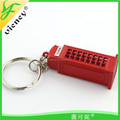 High quality new design telephone box keychain with factory price