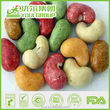 Colorful roasted coated cashews, Soy sauce flavor cashew nuts