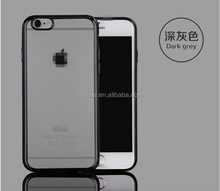 Luxury Ultra Thin Electroplate Clear TPU Case Covers For Apple Iphone 5 5S Gold Silver Black