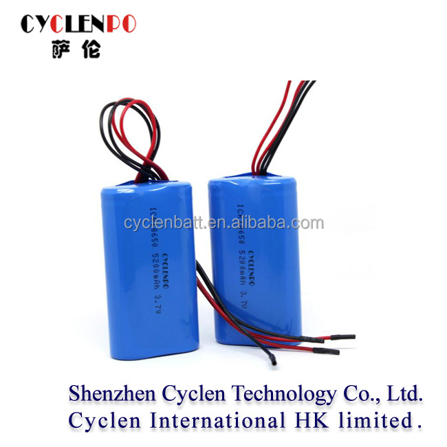5200mah 3.7v icr 18650 li-ion rechargeable battery