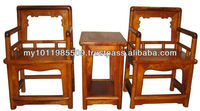 Huanghuali wood Plain Design Lady Chair Set of 3pcs