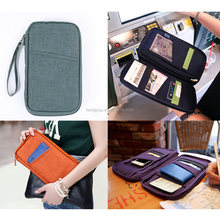 Nylon travel passport documents card package / holder /wallet, rfid blocking card holder,card protector factory