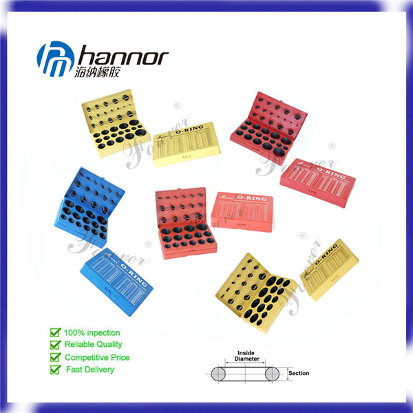 Hannor Customized Rubber Colored O Ring Kits/ O Ring Box