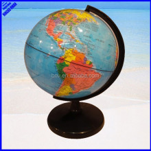 Quality school all plastic rotating 20cm world globe
