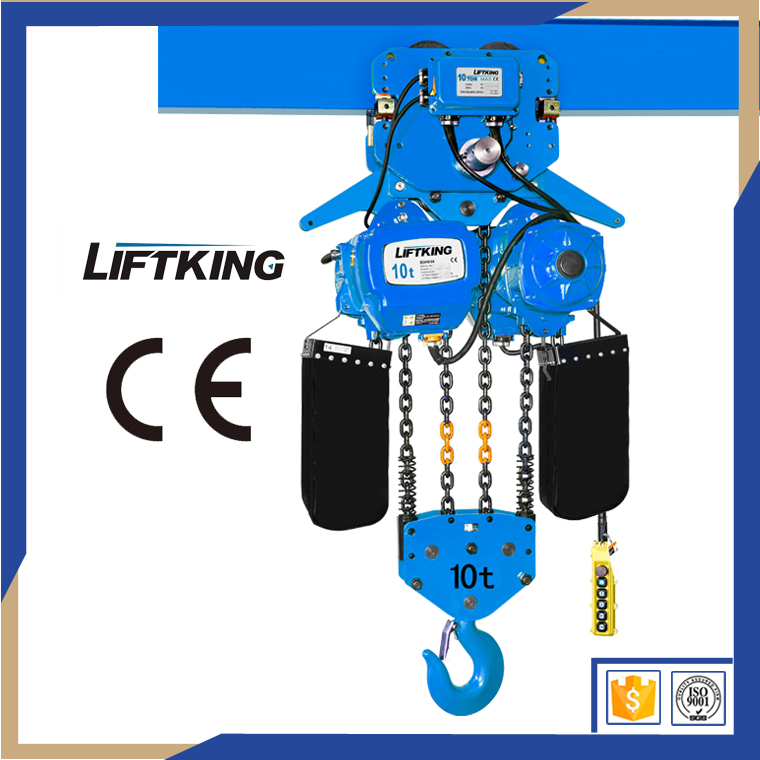 LIFTKING Single speed 380v 50hz 3p electric chain hoist with trolley electric