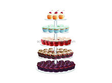 "Customized Cupcake Stand Tower 5Tier Acrylic Display Birthday Wedding Party 1/4"" Thick Commercial Grade"