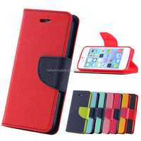 Top Quality Leather Case For iPhone 5 5S Flip Wallet Stand With Card Holder