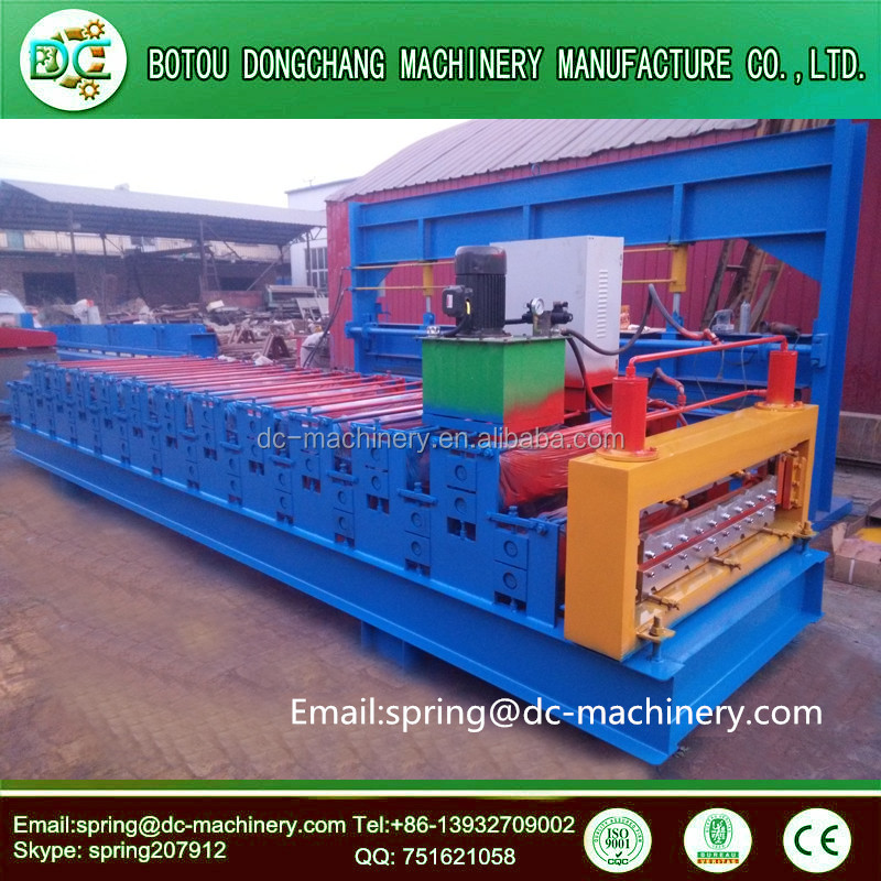 Good quality chinese galvanized roof sheet metal manufacturing machine price