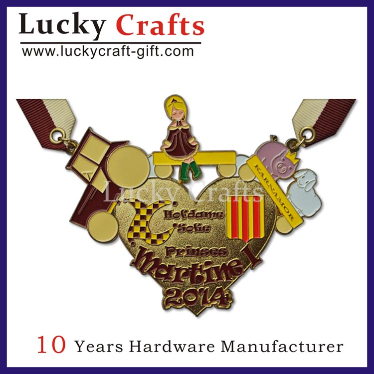 Gifts & crafts type no minimum custom gold metal award medals for sale