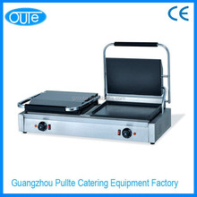 2015 New Production Non Stick Table Top Bbq Electric Double Sized Smooth Griddle Contact Grill