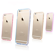 case for iphone 6, Hot Sell PC Bumper + Crystal Transparent TPU Back Cover Case for Apple iPhone 5 5s