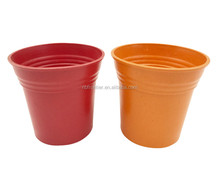 Latest arrival wholesale Small order Bamboo Fiber Wide Mouth Big Plant Pots