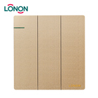 Wall Touch Lighting Three Gang Two Way Light Switch