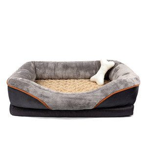 wholesale luxury Orthopedic Dog Bed Memory Foam dog Bed with Removable Washable Cover