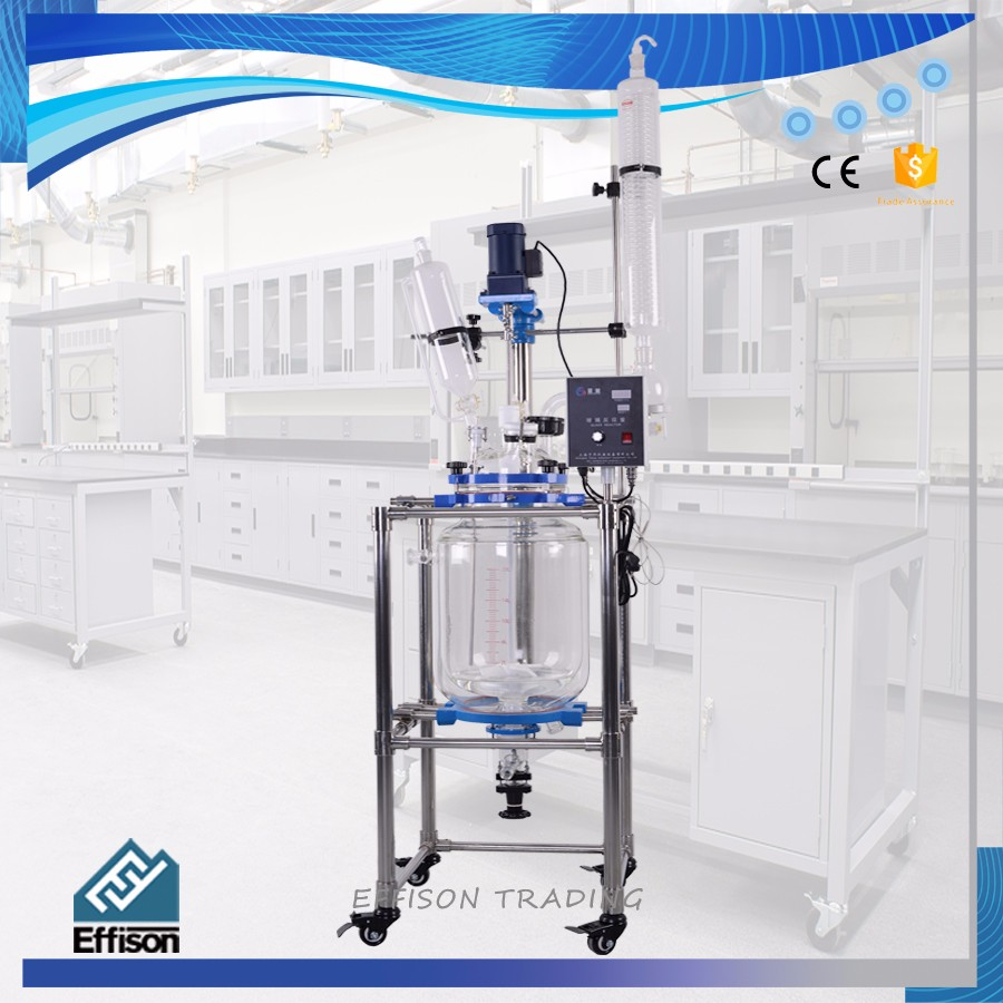 10L Lab Jacketed Glass Chemical Reactor
