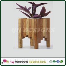 Wood planters Light Weight Colorful Garden Flower Pots Smart Garden Indoor Outdoor