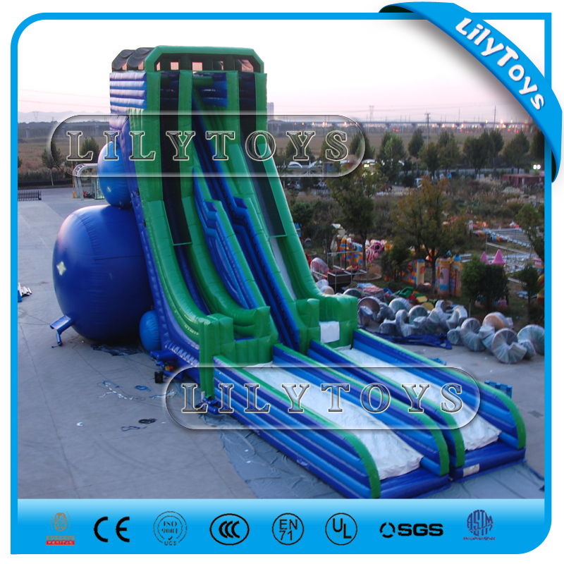 2017 gaint Inflatable slide for sale / gaint inflatable water slide adult slide