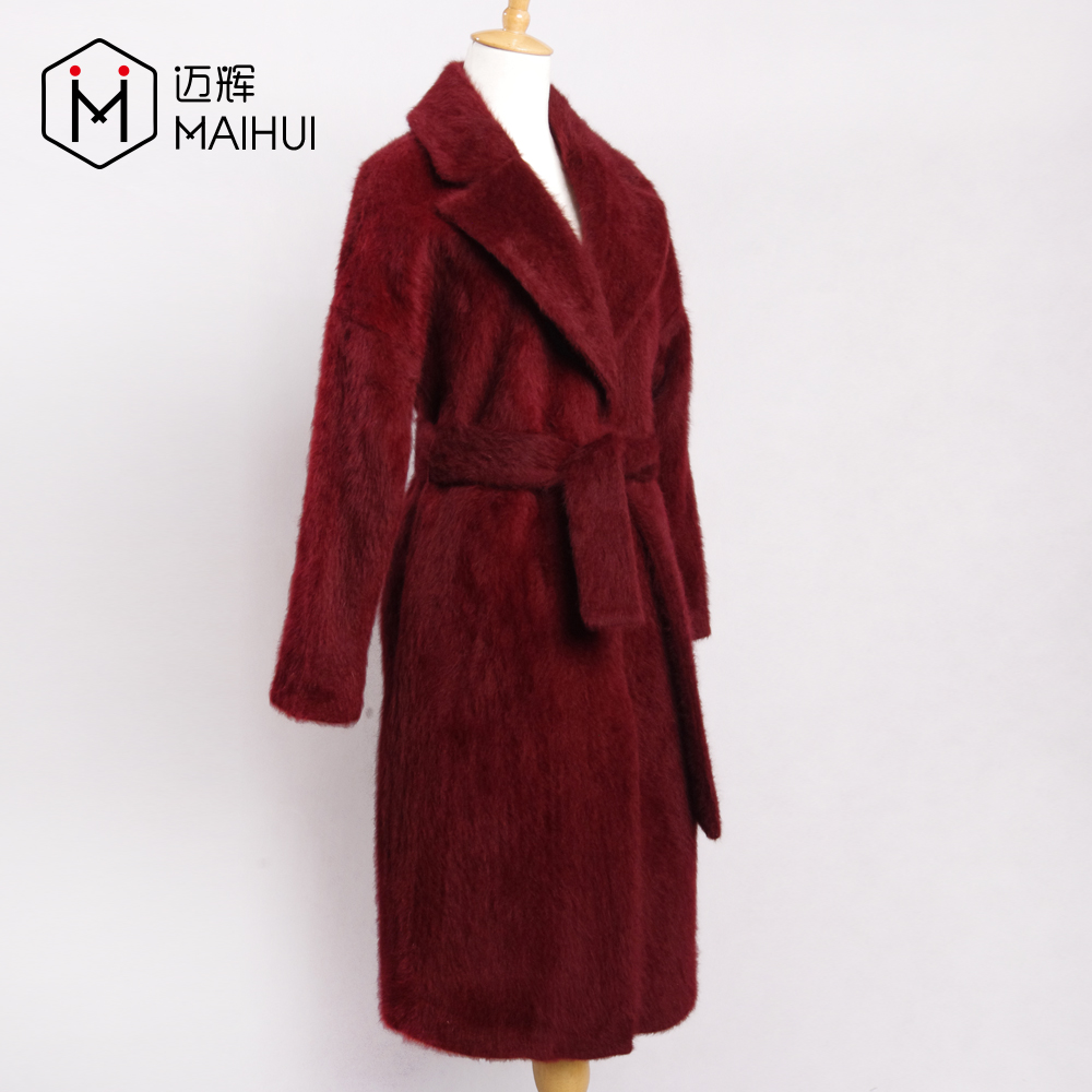 Wholesale New Design Overcoat 2017 Long Style Women Woolen Wool Coat