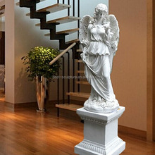 indoor decoration fiberglass angel lady with wing statue sculpture