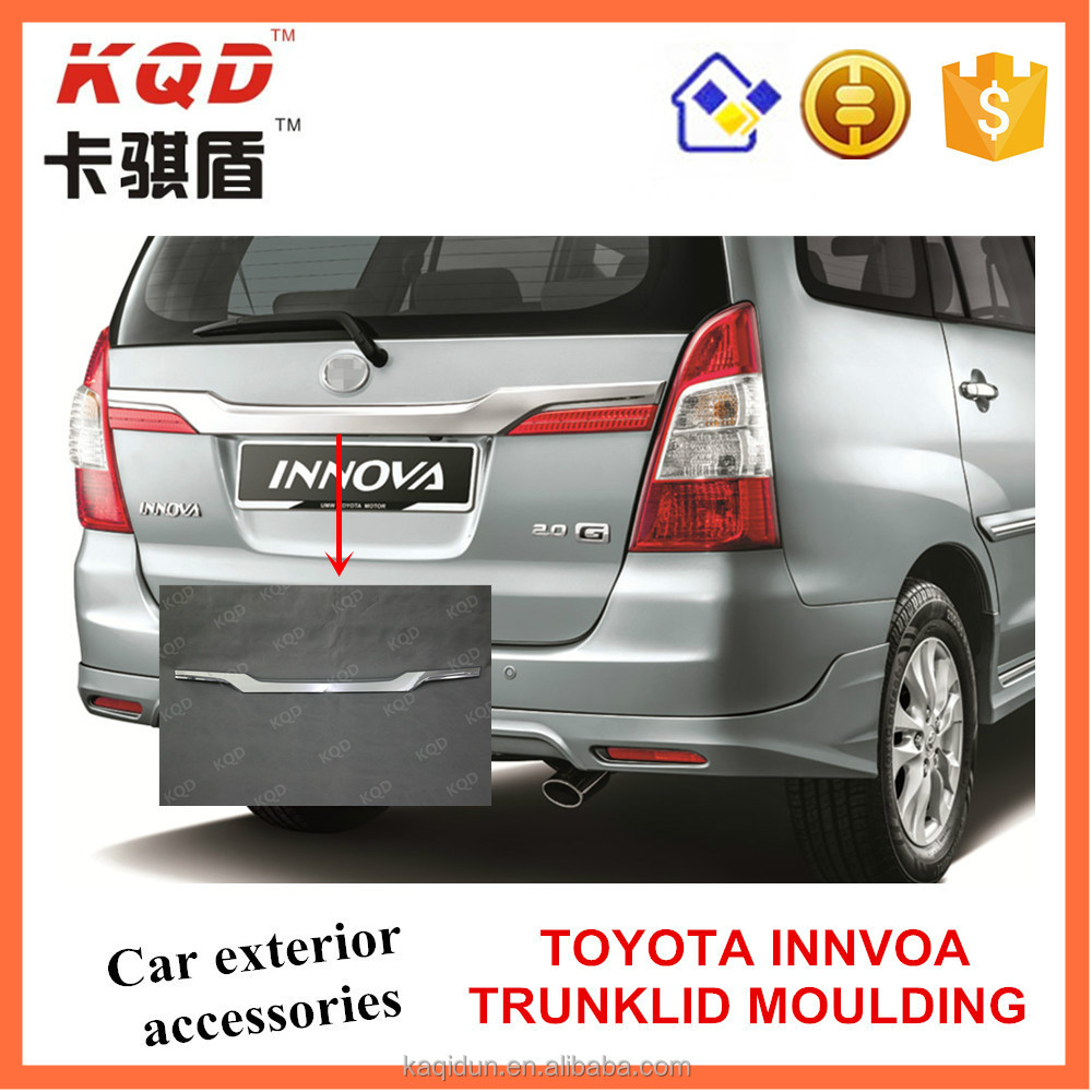 Toyota accessories ABS chrome trunklid moulding for toyota innova car accessories excellent auto parts in Philippine market