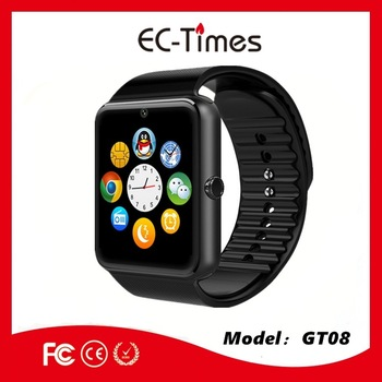 Smart watch phone and sim card GSM android and mobile phone watch gt08