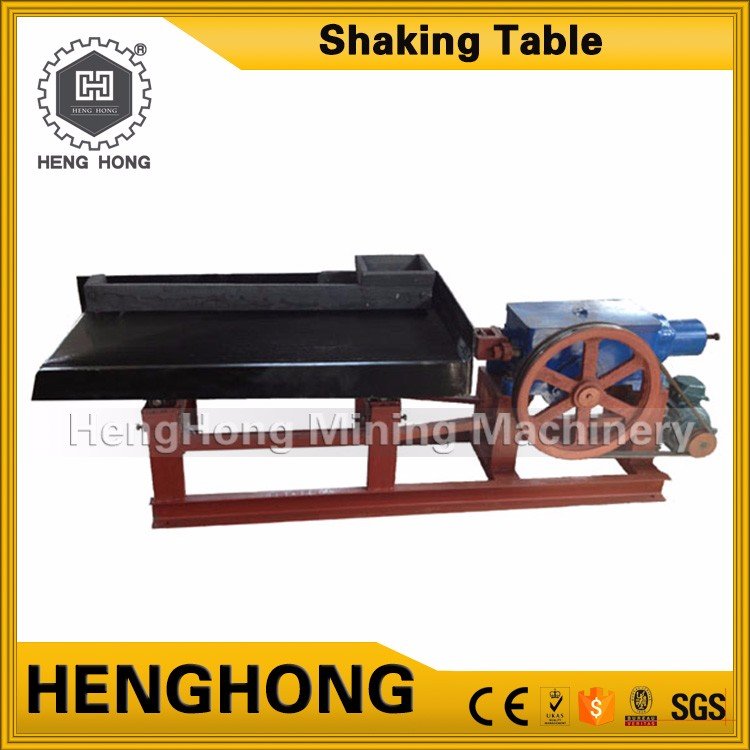 Small diesel engines alluvial gold ore gravity washing plant experimental shaking table