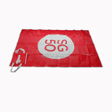 Custom fashion double handle foldable pp woven beach mat