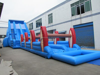 Blue ocean wave giant inflatable slide with factory price