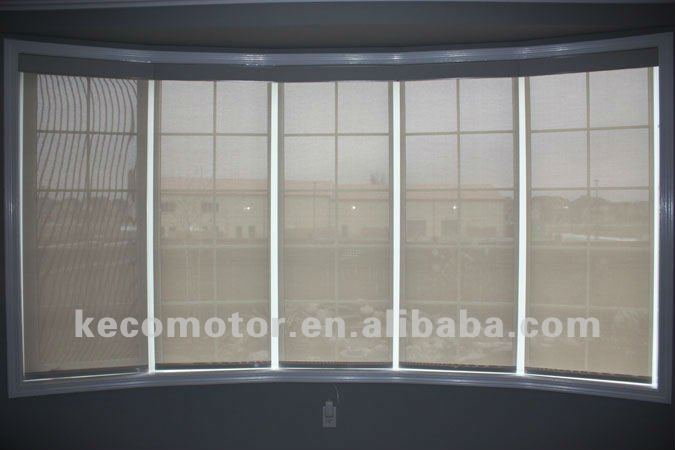 KECO finished kit of electric roller blinds with remote controller and dry contact