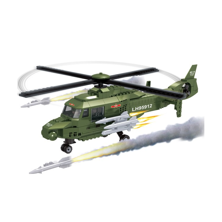 Funny attack helicopter coast guard big boys building blocks toys