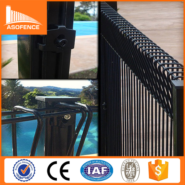 50*150mm opening invisible swimming pool high security fence panel