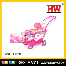 2017 popular wholesale children doll with stroller
