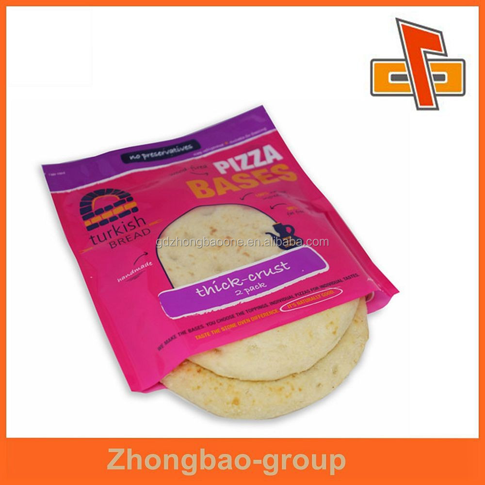 Manufacturer custom plastic ziplock bags for bread or cake packaging with logo printed