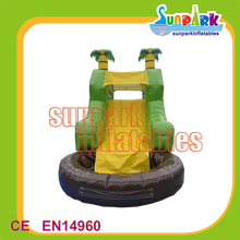 Palm Tree Inflatable Items Water Slide with Pool Inflatable Water Playground on Sale