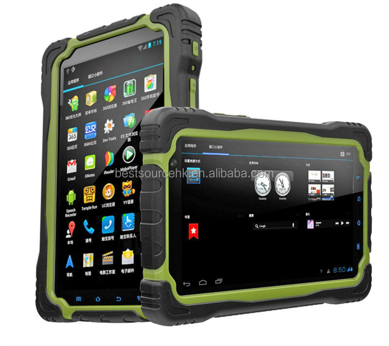 IP67 Waterproof quad core Rugged Tablet Pass CE&ROHs Cetification with 10000MAh battery