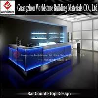 translucent led countertop, commercial bar countertop