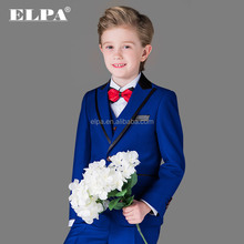 ELPA fashion kids wedding suits formal Blue made to measure suits for boys
