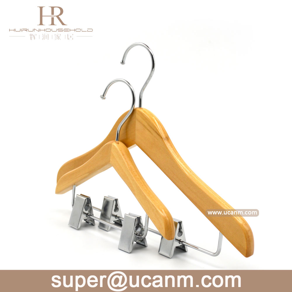 kids brand suit clothes hanger with clips