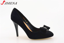 Ladies fancy shoes high heels with bow