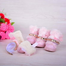 JML pet product lovely dog shoes with rubber sole nice winter snow boots