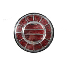 New Design E4 100% Waterproof UV PC Round LED Truck Trailer Bus Stop Tail Lamp Auto Rear Light