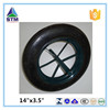 soild wheel for 400-8 Rubber wheel wheelbarrow tyre pneumatic rubber wheel