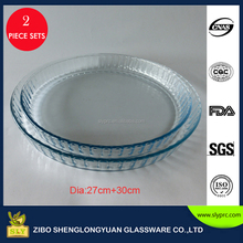 2016 High Guality Borosilicate Round Clear Pyrex Microwave Oven Glass Pie Plates Wholesale
