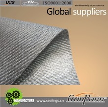 Grey Color Thermal Insulation Cloth PU Coated Fiberglass Fabric