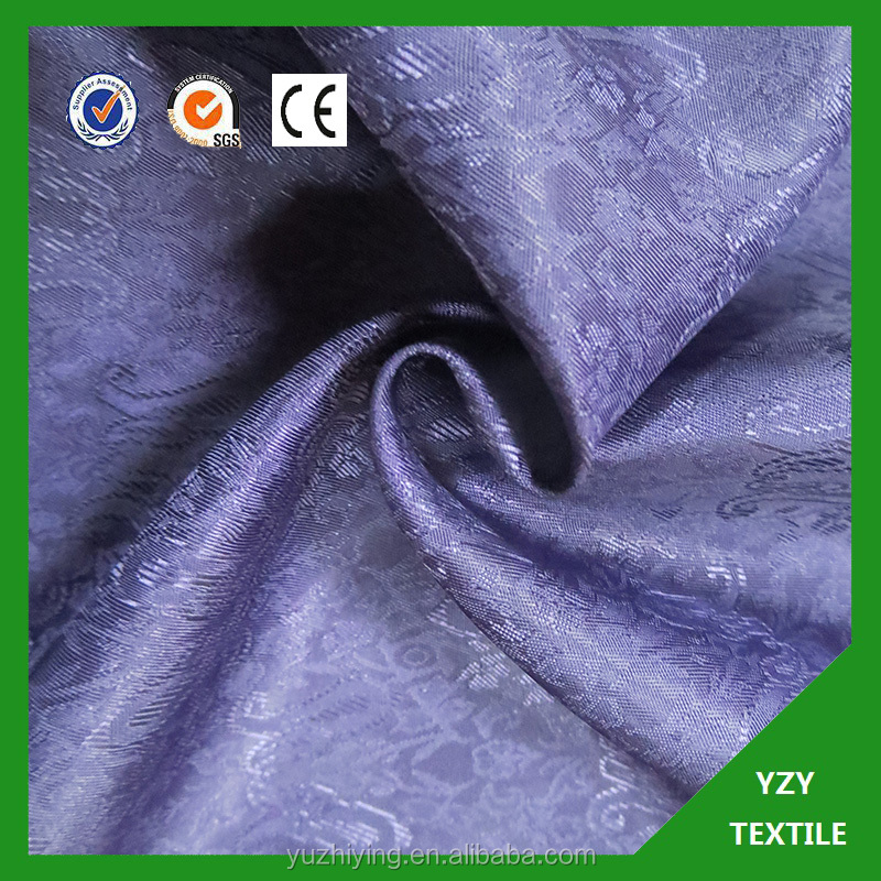 Cheap Woven jacquard polyester fabric for dress/chair cover/suit lining