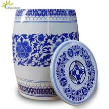 Unique Chinese Blue White Ceramic Porcelain Garden Stool And Storage Jar