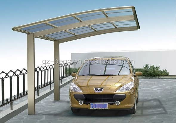 Portable Car Parking Shelter : Polycarbonate outdoor car parking shelters plastic roof