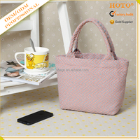Elegant fashionable mini blank handbag tote bag
