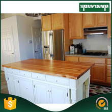 cheap solid wood table top for restaurant , wood worktop for kitchen